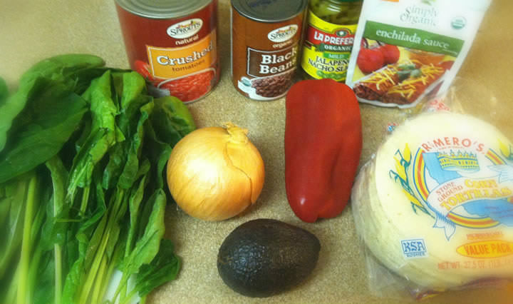 vegetarian enchilada ingredients