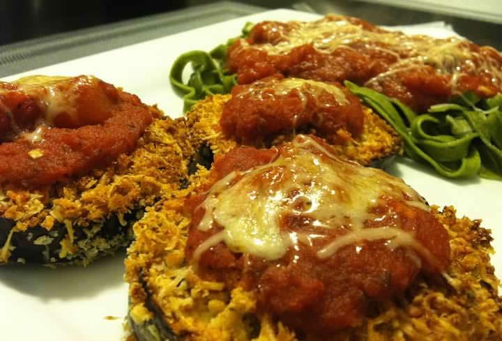 Delicious Eggplant Parmesan Minus 470 Calories!