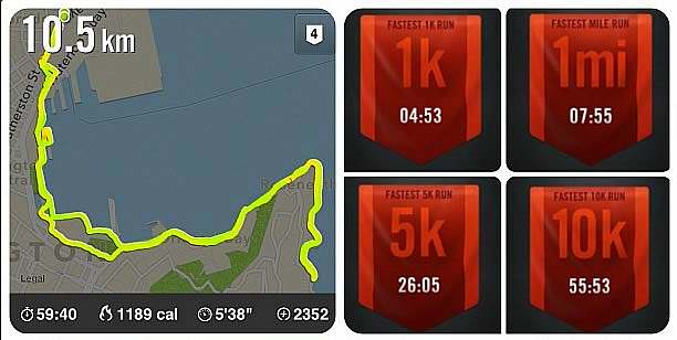 Vasely tracks his runs with the Nike + app
