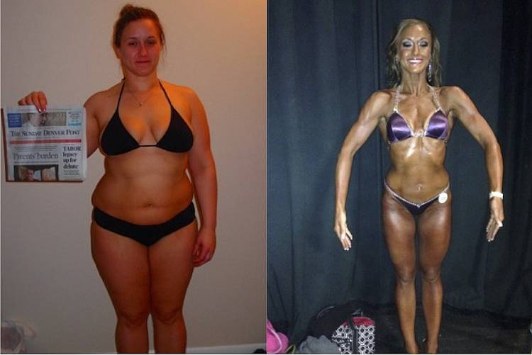 Katie's Transformation from 260+ lbs to Figure Competitor