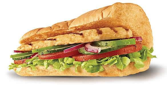 subway over roasted chicken sandwich