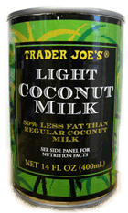 TJ's light coconut milk can