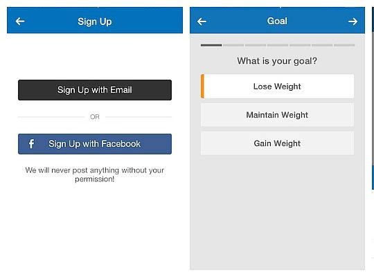 myfitnesspal set up