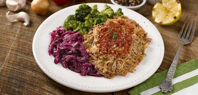 BistroMD pork BBQ with broccoli