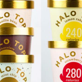 macro ice cream halo