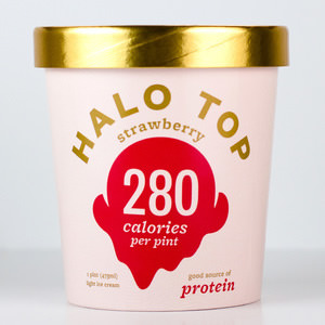 Halo Top ice cream strawberry flavor