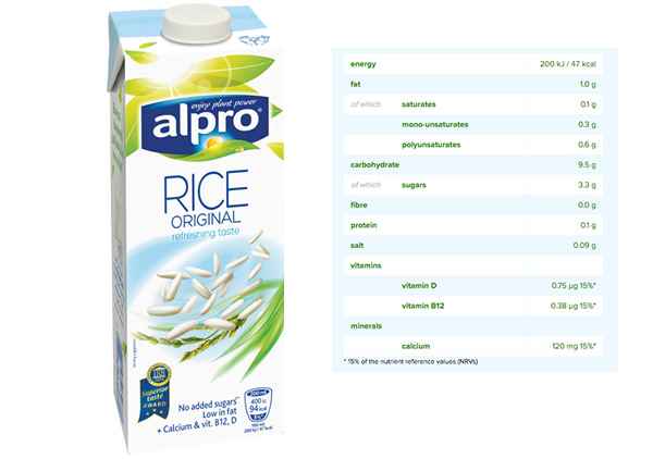 alpro rice drink UK