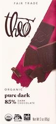 Theo Dark Chocolate bar
