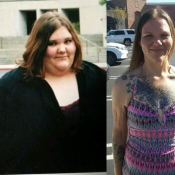 Kristy weight loss journey before-after
