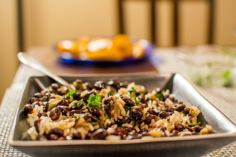 black beans and rice vegan