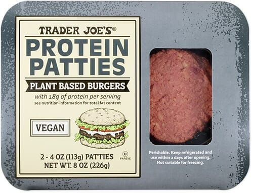 trader joes protein patties